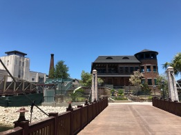 In the distance: A new restaurant 'The Edison' with brick chimney takes shape
